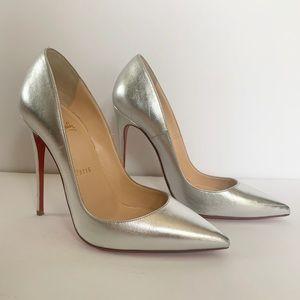 Christian Louboutin So Kate 120 Silver Metallic